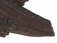 EXPERTLY CARVED, SOLID WALNUT, AMERICAN EAGLE WITH BEAUTIFUL STYLE, LARGE SCALE & EXCEPTIONAL EARLY SURFACE, ca 1830-1860, PROBABLY OF PENNSYLVANIA ORIGIN