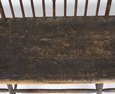 NEW HAMPSHIRE SETTEE, FOUND IN THE PUBLIC LIBRARY IN THE TOWN OF DOVER, CA 1800