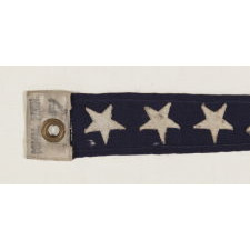 U.S. NAVY COMMISSIONING PENNANT WITH 7 STARS, A 4 FT. EXAMPLE, WWI-WWII ERA (1917-1945)