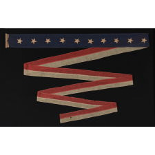 "RARE U.S. NAVY HOMEWARD-BOUND OR COMMISSIONING PENNANT WITH 10 STARS, SIGNED ""JORDAN"", CA 1890-1895"