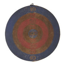RED, WHITE & BLUE DARTBOARD PATERSON, NJ, WWII ERA
