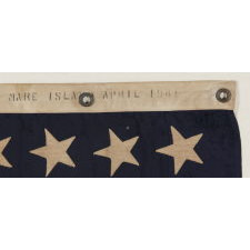 48 STAR U.S. NAVY JACK, MADE AT MARE ISLAND, CALIFORNIA, HEADQUARTERS OF THE PACIFIC FLEET, DURING WWII, DATED 1941