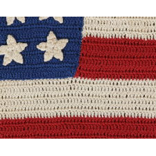 48 STARS, CROCHETED, A BEAUTIFUL EXAMPLE, WWI - WWII ERA