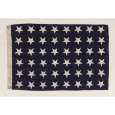 48 STAR U.S. NAVY JACK, MADE AT MARE ISLAND, CALIFORNIA, HEADQUARTERS OF THE PACIFIC FLEET, DURING WWII, DATED 1944