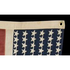 HIGHLY UNUSUAL ALLIED FORCES FLAG FROM THE LATTER HALF OF WWI (1914-1918), COMPRISED OF SIX INDIVIDUALLY PIECED-AND-SEWN FLAGS OF THE MAJOR ALLIED NATIONS: AMERICA, ITALY, BELGIUM, FRANCE, BRITAIN, AND JAPAN