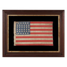 "CIVIL WAR ERA PARADE FLAG WITH 36 STARS IN A SCARCE FORM THAT DISPLAYS A ""U"" FOR UNION"