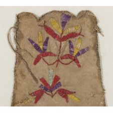 SANTEE SIOUX, QUILL-DECORATED TOBACCO BAG, ca 1880