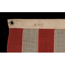 """32 STARS, COMMEMORATING MINNESOTA STATEHOOD, CA 1892 – 1926, A VERY RARE FLAG, IN A SMALL SIZE, WITH AN HOURGLASS OR """"GLOBAL ROWS"""" CONFIGURATION"""