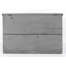 UNUSUAL BLUE-GREY GRAIN BIN WITH THREE DRAWERS, NEW YORK STATE, ca 1865-1885