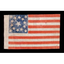 15 STARS, MADE EITHER TO CELEBRATE KENTUCKY STATEHOOD OR TO GLORIFY THE SOUTH, 1861-1876, A VERY RARE EXAMPLE