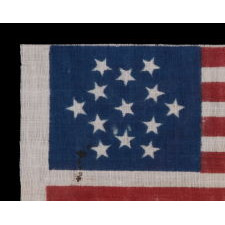 13 STARS IN A SIX-POINTED GREAT STAR/ STAR OF DAVID PATTERN, MADE FOR THE 1876 CENTENNIAL OF AMERICAN INDEPENDENCE