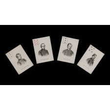 EXCEPTIONALLY RARE COMPLETE DECK OF CIVIL WAR PERIOD PATRIOTIC PLAYING CARDS FEATURING 52 UNION GENERALS, PUBLISHED BY MORTIMER NELSON IN NEW YORK, 1863